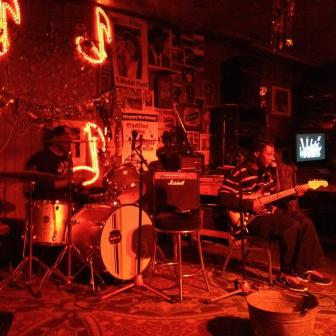 The band at Red's Lounge