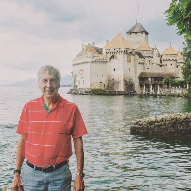 Howard at Chateau de Chillon