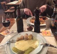 Raclette, sausage, beer, oh yes