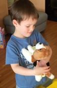Hendrick wills his stuffed animal to come to life