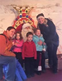 Santa's alpine throne