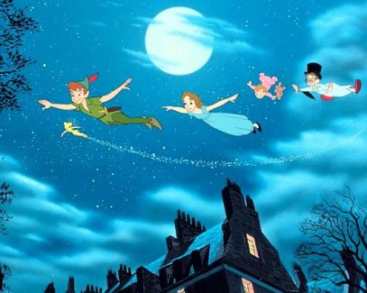 Peter Pan Wendy Flying 1953