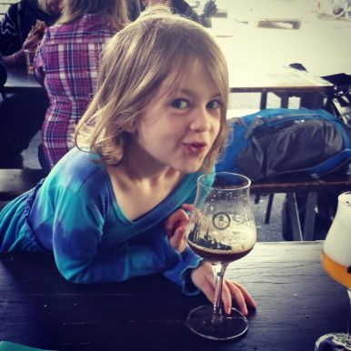 Milan kindly helping her father identify the beer flavors. So helpful!